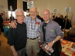 Main Hall—Robert Woodworth (The Center), Perry Brass (Belhue Press), Seth Wein